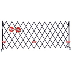 omnipro security expandable barrier fence trellis