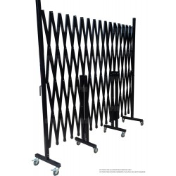 Omnipro Series-1 4m(L) x 2.2m(H) Full-Steel Mobile Trackless Barrier FTT (Wall Mountable)