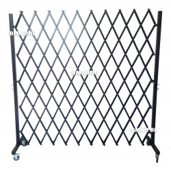 Omnipro Series-1 1m(L) x 1.9m(H) Full-Steel Mobile Trackless Barrier OON (Wall Mountable)